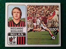 CALCIATORI 1972-73 1973 n 222 MILAN SOGLIANO , Figurina Sticker Panini NEW