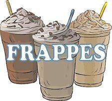 """Frappe Frappes Drinks Concession Restaurant Decal 14"""""""