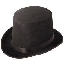 FANCY DRESS BLACK TOP HAT VELOR  RTNGMASTER MAGICIANS, VICTORIAN 1920'S 1930'