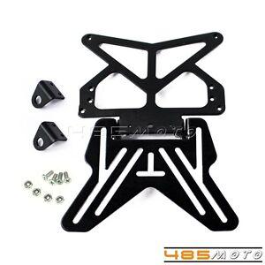 Bracket Holder Tail Tidy Hanger Slide Motorcycle Plate Universal Black Bracket