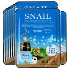 Snail Face Mask Pack Sheet Moisture Essence Facial Ultra Skin Care 10pcs