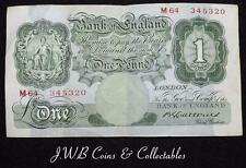 1930-34 Bank Of England £1 One Pound Note Catterns M64 345320