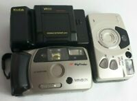 Lot of Three Point & Shoot Cameras, Sold As-Is Untested Canon, Minolta & Kodak