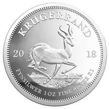 Südafrika 1 Rand 2018 - Krügerrand - Springbock - 1 Oz  Silber PP im Etui