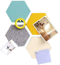 Set of Felt Cork Board Tiles, Wall Bulletin Board Hexagon Square Circle Pin to