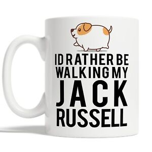 Id Rather Be Walking My Jack Russell Mug Coffee Cup Gift Idea For Dog Pet Owners
