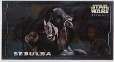 STAR WARS TOPPS EPISODE 1 SERIES 2 WIDEVISION RETAIL EMBOSSED FOIL E4 SEBULBA
