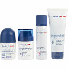 Clarins Men Grooming Essentials Set: Shampoo & Shower Gel 3.6Oz+ Smooth Shave Fo