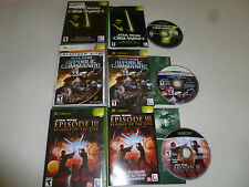 XBOX GAME LOT STAR WARS REPUBLIC COMMANDO OBI-WAN EPISODE III 3 REVENGE OF SITH