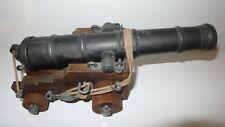 cañon naval ingles - replica - metal y madera - siglo XVII -  english naval gun
