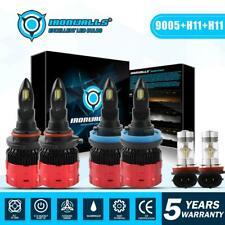 6x H11 9005 H11 LED Headlight Conversion Bulbs High Low Beam Fog Light Kit 6000k