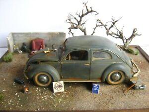 """VW Beetle in 1:18 Maisto barn find handwork """"modellich"""" unrestored 1951 Oldtimer"""