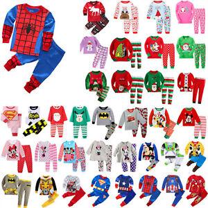 Kids Boys Girls Pj's Pyjamas Sleepwear Baby Nightwear Pajamas Clothes Costume
