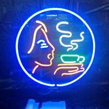 "Hot Tea Coffee Cafe Neon Light Sign 24""x24"" Beer Bar Decor Lamp Glass Artwork"