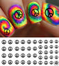 Peace Sign Nail Art Waterslide Decals - Salon Quality!