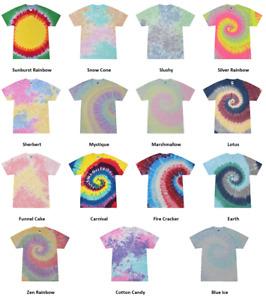 Tie Dye Shirts Kids & Adult Sizes Unisex 100% Cotton