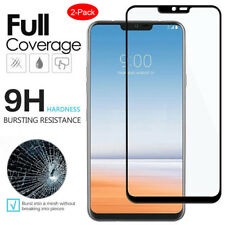 2X For LG G7 ThinQ - Full Coverage Tempered Glass Film Screen Protector 2-Pack