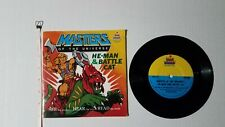 VINTAGE 1983 MOTU HE-MAN & BATTLE CAT STORY BOOK and RECORD