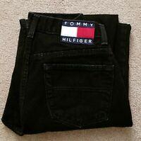 Tommy Hilfiger Womens Black Denim Straight Leg Casual Jeans Size (12) L32  EUC
