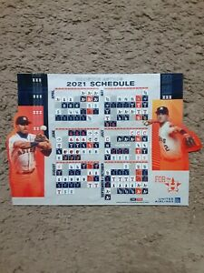 2021 Houston Astros (AL) United Airlines official team magnet schedule