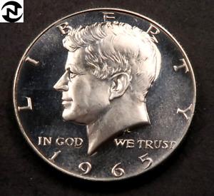 1965 Kennedy Half Dollar // Gem SMS PL *CAMEO* // 40% Silver // 1 Coin