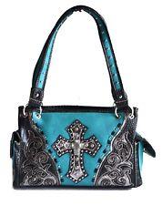 women handbags western concealed carry rhinestone cross bling floral purse bag