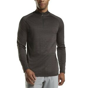 G4 G/Fore Mens Medium Perforated 1/4 Zip Charcoal Pullover G4MF20K80 NEW Golf