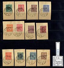 (E2613) Oberschlesien Nr. D 8 - D 20 auf herrlichen Briefstücken gestempelt