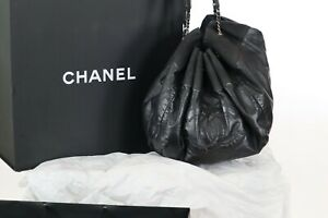 CHANEL Calfskin Stretch Spirit Large Cabas Tote Black Presidents' Day Sale