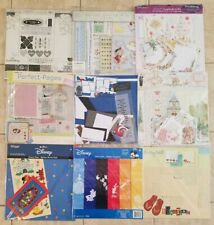 Lot of 9 Scrapbook Page Kits & Paper Packs Disney / Wedding / Family Themes, New