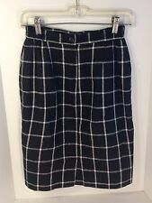 Women's Savannah Black White Checked Pencil Skirt, Size Petite 4