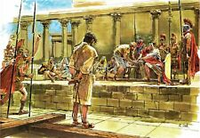 """Reprint - """"Jesus Before Pilate"""" By Richard Hook - On 11"""" X 17"""" Card Stock"""