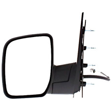 Fits 09-14  E-Series Left Driver Power Mirror Textured Black W/Single Glass