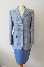 Escada Size 10 UK 2 Pieces Tweed Suit Cashmere jacket /Wool skirt/Couture Suit