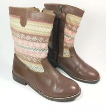 b2686570de45e Mayoral Girls Brown Leather And Fabric Boots Uk junior 12 Eu 31