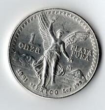 1991 Mexico 1 Onza Silver Libertad - 999 Silver