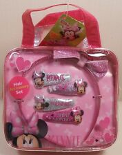 Hair Accessory Set DISNEY MINNIE MOUSE Carry Bag Headband Snap Clips