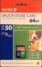 SanDisk SD Memory Card 64MB Secure Digital Brand New in Sealed Package