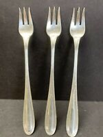 """3 Tiffany & Co Electroplated Silver Dinner Fork 5.50"""" IN 71.9 g PAT 1903 19TH C."""