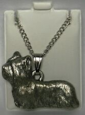 Skye Terrier Dog Harris Fine Pewter Pendant w Chain Necklace Usa Made
