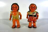 alte Mecki Figuren 50er 60er Igel Paar Celluloid 10cm sehr selten