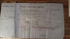 Original Vintage 1906 Road Change Map - Otterspool County Bridge, Chester, UK