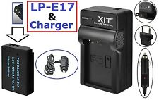 Hi Capacity LP-E17 Li-Ion Battery With Dual Charger For Canon EOS Rebel T6i T6s