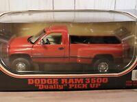 JRL Dodge Ram 3500 Dually V-10 Pickup Truck 1:18 Scale Diecast Red 1997 Anson
