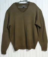 Steve & Barrys Mens Brown V-Neck Knitted Ribbed Sweater Pullover Size 2XL  $EUC$