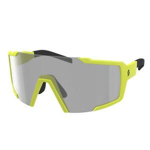 Scott Shield LS Sunglasses Medium/Large Fit Yellow Matte/Grey LS