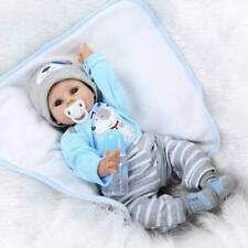 """22"""" NPK Doll Reborn Doll Handmade Lifelike Baby Solid Silicone Dolls Toy Blue"""