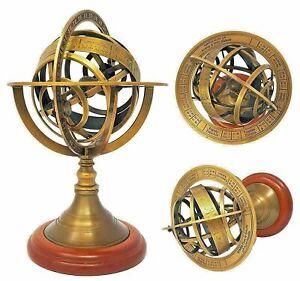 Antique Collectible Nautical Brass Astrolabe Armillary Sphere Globe Gift Replica