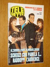 TELESETTE 1993/5=PAMELA PRATI TEO TEOCOLI GENE GNOCCHI=MARIA DE FILIPPI=LERNER G