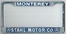 RARE Monterey California Stahl Mercedes Benz Vintage Dealer License Plate Frame